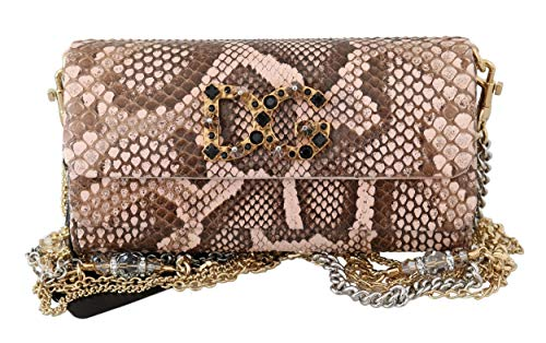 Dolce & Gabbana - - All - Brown Snakeskin Crystal Clutch Borse Leather...