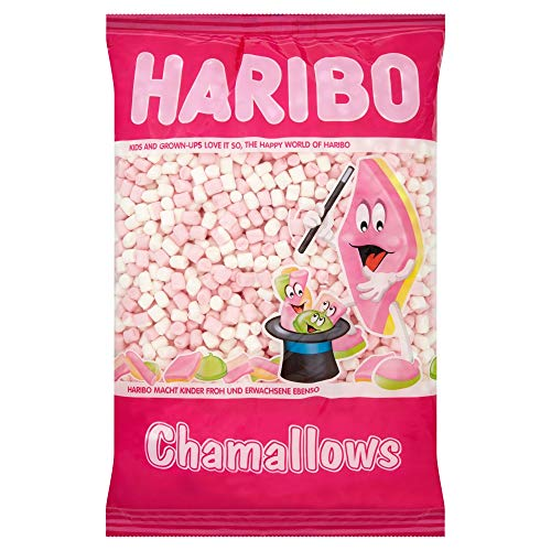 Haribo Chamallows Mini Pink & White Retro Kids Sweets - 1kg