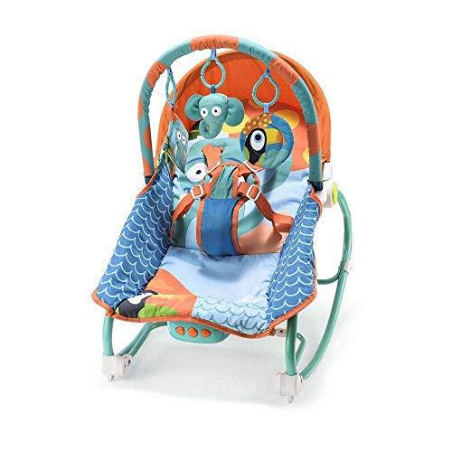 Cadeira de Balanço para Bebês 0-20 kg Elefante, Multikids Baby, Azul