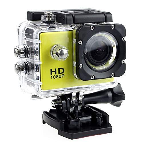 Fishyu - Mini cámara deportiva impermeable 4K WiFi inteligente HD para exteriores, color amarillo