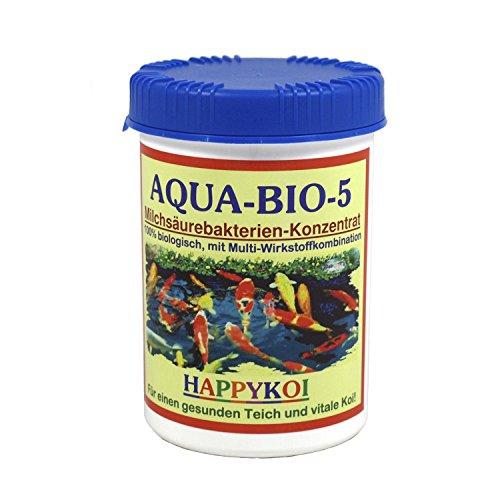 AQUA BIO 5 Milchsäurebakterien Pulver Bakterien Teich Koi, Inhalt:1000 ml