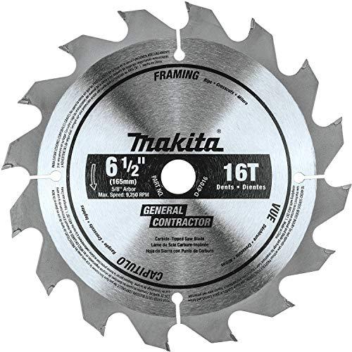 "Makita D-67016 6-1/2"" 16T Carbide-Tipped Circular Saw Blade, Framing"