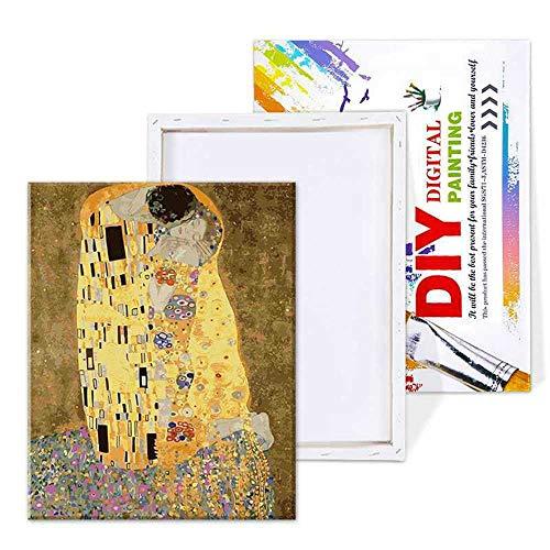 YSNMM Fotolijst Famosa Figura schilderij om zelf te maken uit de cijfers van de kunstfoto van de wandfoto op canvas, decoratie voor huis en kunst