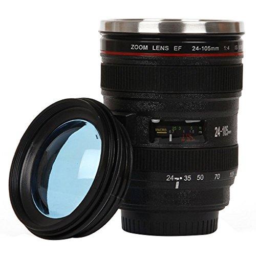 Duurzame roestvrijstalen thermosflessen lens reflexcamerakop, roestvrijstalen koffiemokkop Water koffie thee cameralens Tumbler
