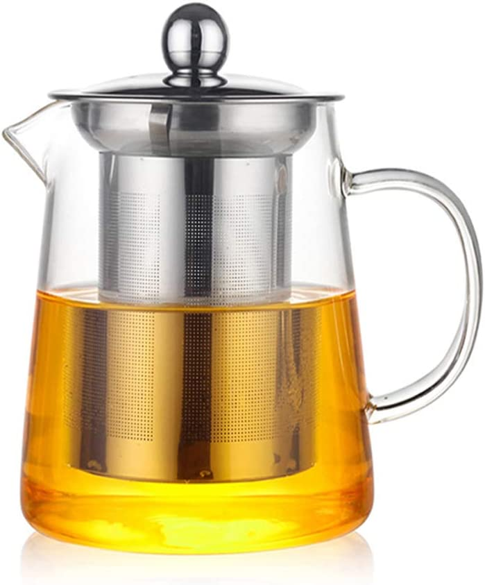 HKKAIS 950ML/32oz Glass Teapot with Removable Infuser, Teabloom