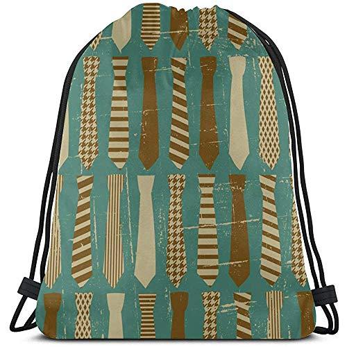 Bouia Cartoon Mooie stropdas accessoires heren string rugzak polyester waterdichte string rugzak trekkoord tassen voor fitnessstudio reizen