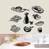 Yyoutop DCTAL Sushi Sticker Japan Food Decal Poster Vinyl Decoraciones de Pared Pegatina Quadro Parede Decor Mural Sushi Sticker 1 56x75cm