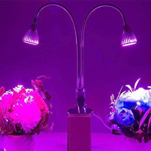 Cicongzai 10 LEDs 360 graden flexibele lamphouder clip LED plantengroei licht kas licht aquarium licht, 10 Watt AC 85-265 V