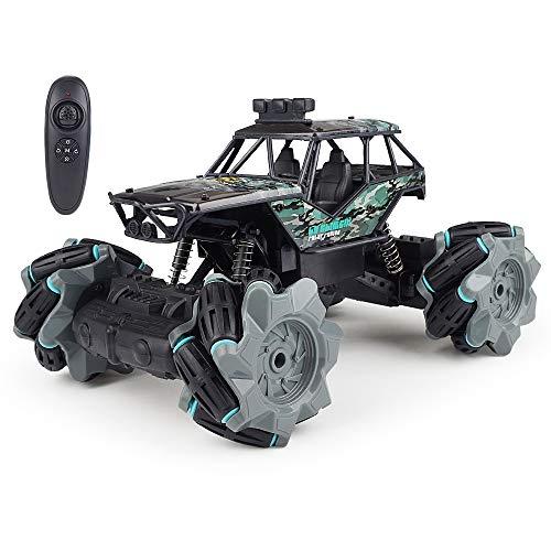 yanzz Coche con Control Remoto de 2.4Ghz, Coche RC de Alta Velocidad, Coche con Buggy a la Deriva, Camión RC 4WD, Volteretas de Doble Cara, Coche con Control Remoto Giratorio de 360 ° para niños