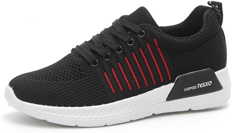 SUNNY Store Women's Platform Wedges Tennis Walking Sneakers Comfortable Lightweight High Heel Fitness shoes Black