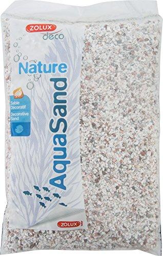 Zolux Gravier Naturel pour Aquarium Cristobalite Blanc de 1,6 à 3 mm de Granulométrie 0,8 kg