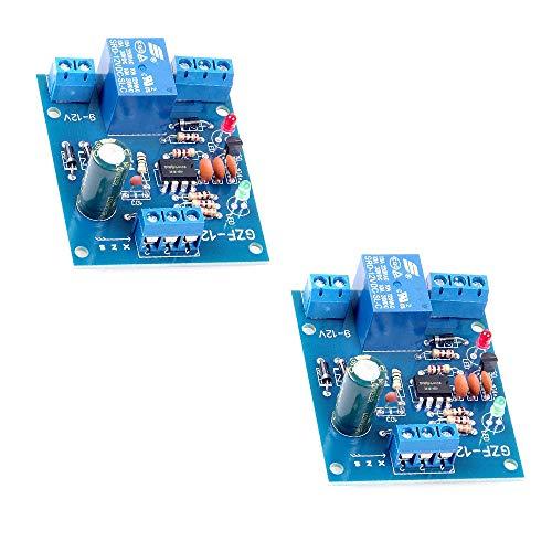 KOOBOOK 2Pcs Liquid Level Controller Sensor Module DC 12V Water Level Detection Sensor Drainage Control Circuit Board