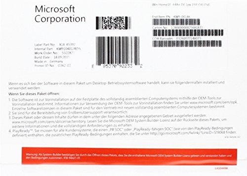 MS Windows Home 10 64bit OEM [import allemand]