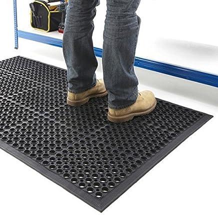 BiGDUG Large Outdoor Rubber Entrance Mats Anti Slip Drainage Door Mat Flooring SIZE 0.6 M x 0.9 M