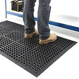Large Outdoor Rubber Entrance Mats Anti Slip Drainage Door Mat Flooring - 3 Sizes...