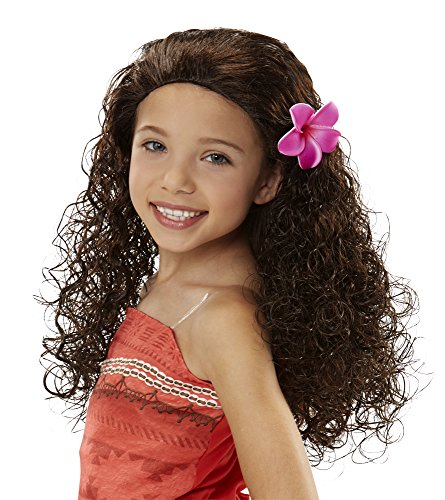 Disney Moana Wig with Plumeria Flower