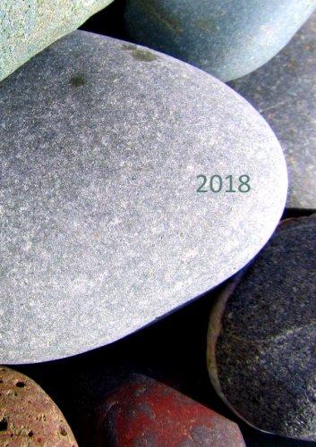 Kalender 2018 - Steine: DIN A5, 1 Woche auf 2 Seiten, Platz für Adressen und Notizen