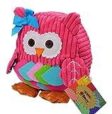 SOZZY - Mochila Blando Escolar para Niños Niñas Jardín Infantil de Infancia Diseño de Animal Lindo - Rosa - Búho