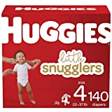 Baby Diapers Size 4, 140 Ct, Huggies Little Snugglers