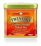 Twinings Ceylon Orange Pekoe Tea - Schwarzer Tee lose in der Tee-Dose - helles Gold und erfrischendes Aroma aus den besten Teeblättern aus Ceylon, 1 x 100 g