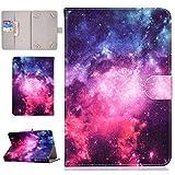 XTstore Funda Universal para Tablet de 8', Carcasa Flip Case Cubierta Protectora para Fire HD 8, Samsung Galaxy Tab S2 8.0,Huawei MediaPad T3 8, Lenovo Tab 3 850F/Tab4 8, iPad Mini 4/3/2/1, Estrella