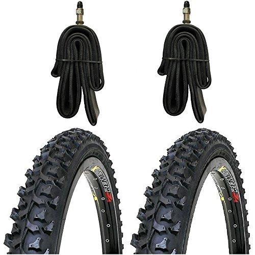 2 x Kenda MTB Reifen Fahrradreifen 24 Zoll 50-507 24 x 1.95 inklusive 2 x Schlauch mit Dunlopventil