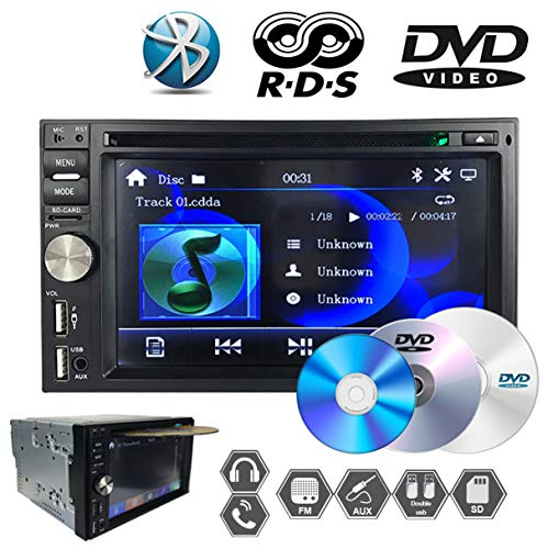 GOFORJUMP MP5 AUX Ingresso Audio FM/AM 6.5 Pollice Touch Screen Autoradio HD dual-mandrino DVD 2DIN Bluetooth Android USB U Disk Stereo