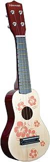 Toy Ukulele 4 string Hawaiian Theme Uke Guitar for Kids - Natural