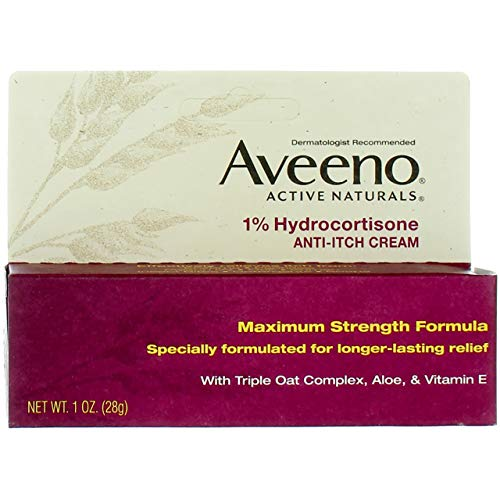 Aveeno 1% Hydrocortisone Anti-Itch Cream, 1 Oz ( Pack of 3 )