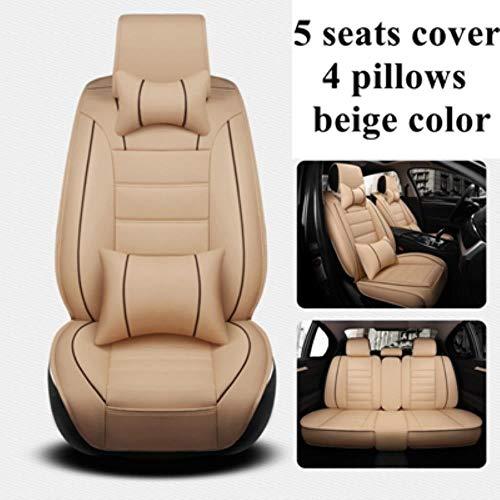 Youthus Sitzbezüge Auto Set Autositzbezüge Leder für Audi A4 Q3 A6 C5 A4 B8 A3 8P Q2 Q5 A1 A3 A5 A6 A7 A8 A4L...