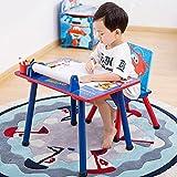 DIAOD Kinder Schreibtische und Stühle Set Kindergarten Kinder Schreibtische Home Massiv Holz Cartoon Spiel Spielzeug Schreibtisch Malerei und Graffiti (Size : Style 2)