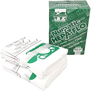 Numatic Hepaflo 9L NVM-1CH Henry Cleaner Bags, Pack of 10, 9 liters, Green/White