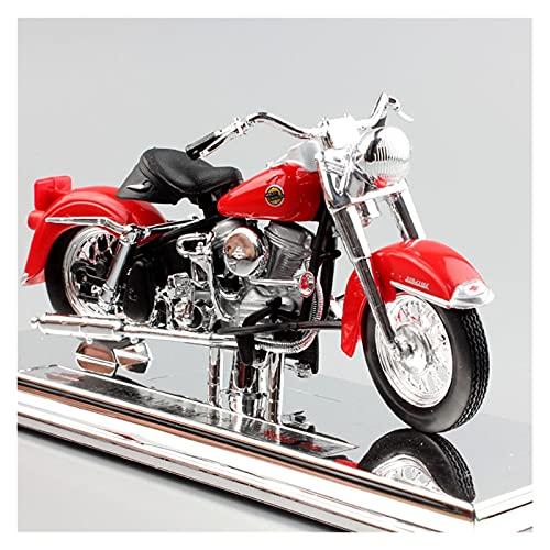 El Maquetas Coche Motocross Fantastico 1/18 para Harley 1958 FLH Duo Glide simulación fundición a presión Modelo Motocicleta colección decoración Regalo Coche Juguete Regalos Juegos Mas Vendidos