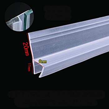 Proyecto de tapón sin marco cristal corredera Sash Protector de ducha Puerta Burlete tira de juntas de silicona 8mm 5/16 pulgada de grosor cristal 3m 9.84 pies grandes h: Amazon.es: Bricolaje y
