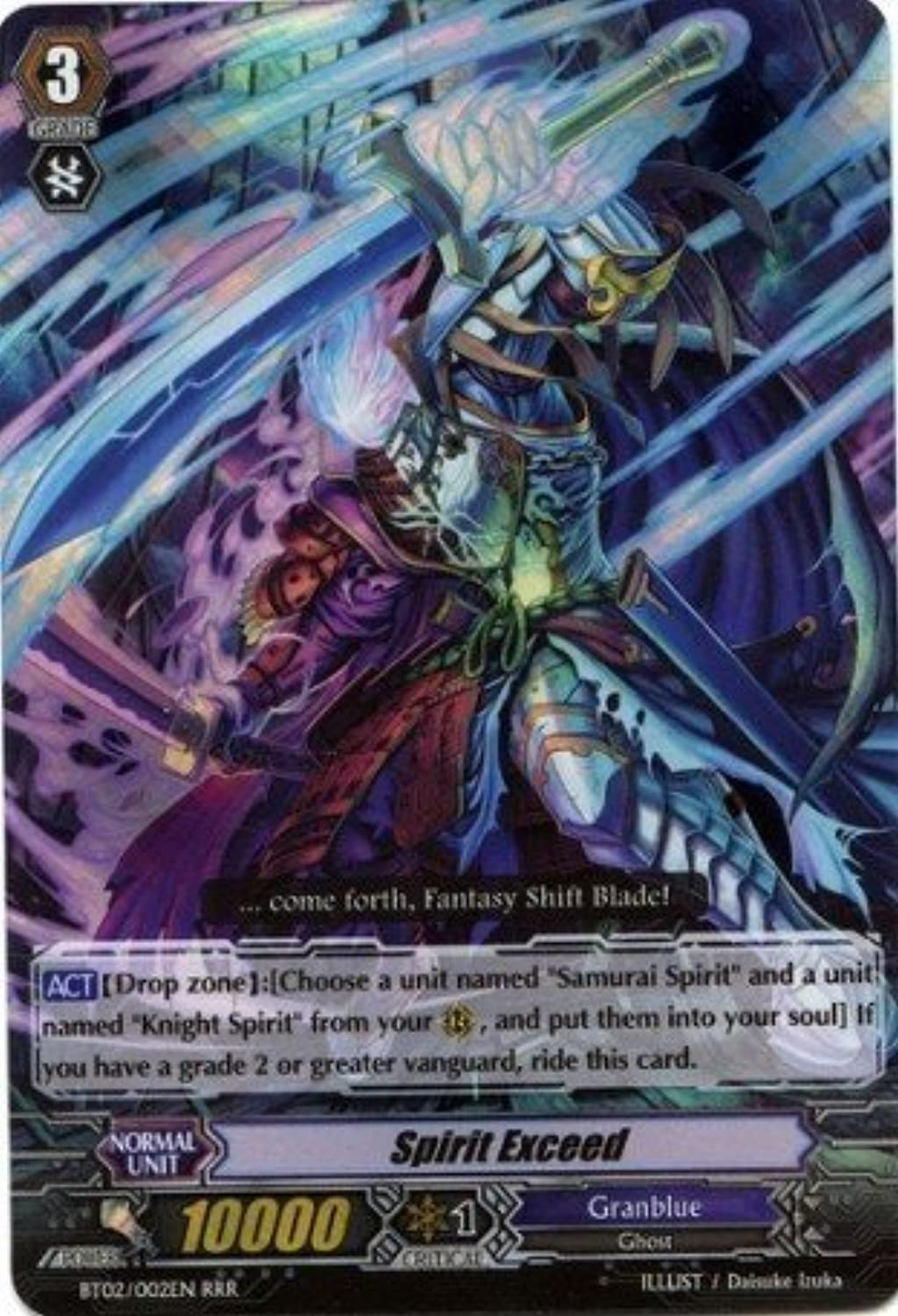 Cardfight   Vanguard TCG  Spirit Exceed (BT02 S02EN)  Onslaught of Dragon Souls by Cardfight   Vanguard TCG