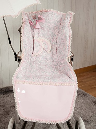 Babyline Caramelo - Colchoneta para silla de paseo, color rosa