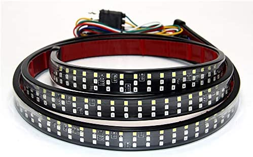 Led Tailgate Lights 48 Inch 432Pcs LED Strip Triple Row Flexible Bar No Need Drill Install Turn product image