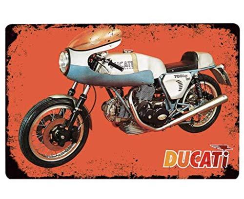 Placa de metal para moto Ducati Old School 20 x 30 cm