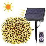 E-More Catena Luminosa Esterno, Luci Solari Esterno 65.6ft 200 LED Solare Luce Stringa solari Lucine Decorazione di festa Impermeabile IP65 Catena Luminosa per Giardino, Albero, Patio, Festa