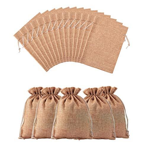 NBEADS 100 unids Lazo Bolsa de Regalo de la arpillera Bolsa de la joyería para Bodas favores, Perú, 18 x 13 cm