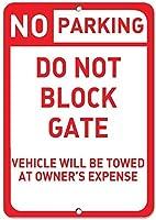駐車場は所有者の費用のアルミニウム金属の印で牽引されるゲート車を妨げません
