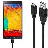 ASSMANN Ladekabel/Datenkabel kompatibel für Samsung Galaxy Note 3 Neo LTE Plus - schwarz - 1m