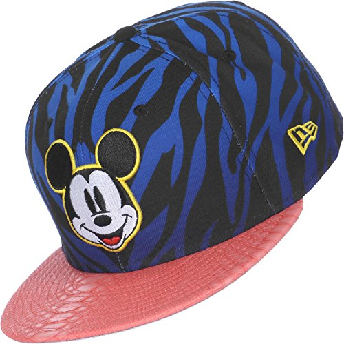 New Era x Disney - Casquette Strapback Homme Mickey Mouse 9Fifty Jungle Mash Up - Blue/Black/Pink Snake - Taille S/M