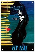 ハワイフライティール 金属板ブリキ看板警告サイン注意サイン表示パネル情報サイン金属安全サイン