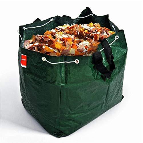NOOR Gartentasche 100L, 50x40x50 cm I Reißfester Gartensack extra robust I Selbststehende & leicht verschließbare Laubtasche I Professionelles Gartenzubehör – einfache Handhabung