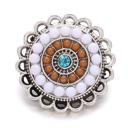 L 6 unids/Lote 18 mm botón de joyería de la joyería de la joyería del Vintage de la Piedra Natural del Elefante de la Cruz de 18 mm de la Cruz del Metal del Ajuste del botón del Ajuste del botón del