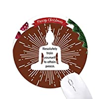 平和運動は解決する クリスマスツリーの滑り止めゴム形のマウスパッド