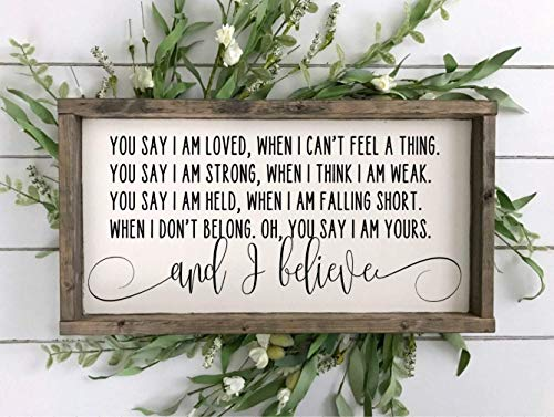 You Say Lyrics Sign Lauren Daigle SignLauren Daigle LyricsChristian Music LyricsWedding SignChristian Quote Sign