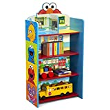 RECOMMENDED FOR: Ages 3+ 2-IN-1 DESIGN: Use as a bookcase or playhouse | Colorful Sesame Street scenes on the back panel of this bookcase serve as a backdrop that can be used as a dollhouse | Imaginative play helps boost creativity, vocabulary and fi...