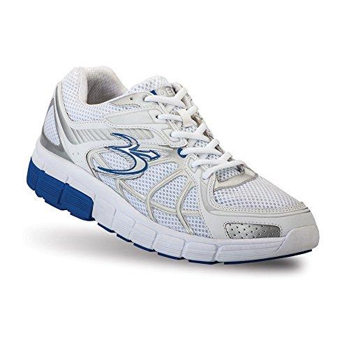 Gravity Defyer Men's G-Defy Super Walk Blue White Athletic Shock Absorbing Shoes for Plantar Fasciitis Shoes for Heel Pain